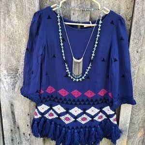 Anthropologie $148 Floreat Bahia tunic embroidered